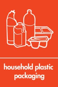 Plastic packaging graphic