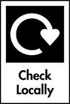 Check locally recycling symbol