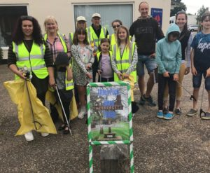 A photograph of Hethersett Environment Action Team, a local litter pick group