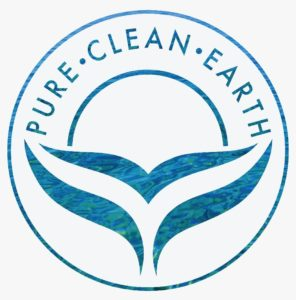image of Pure Clean Earth group logo (a blue whale tail with the words Pure Clean Earth above it)