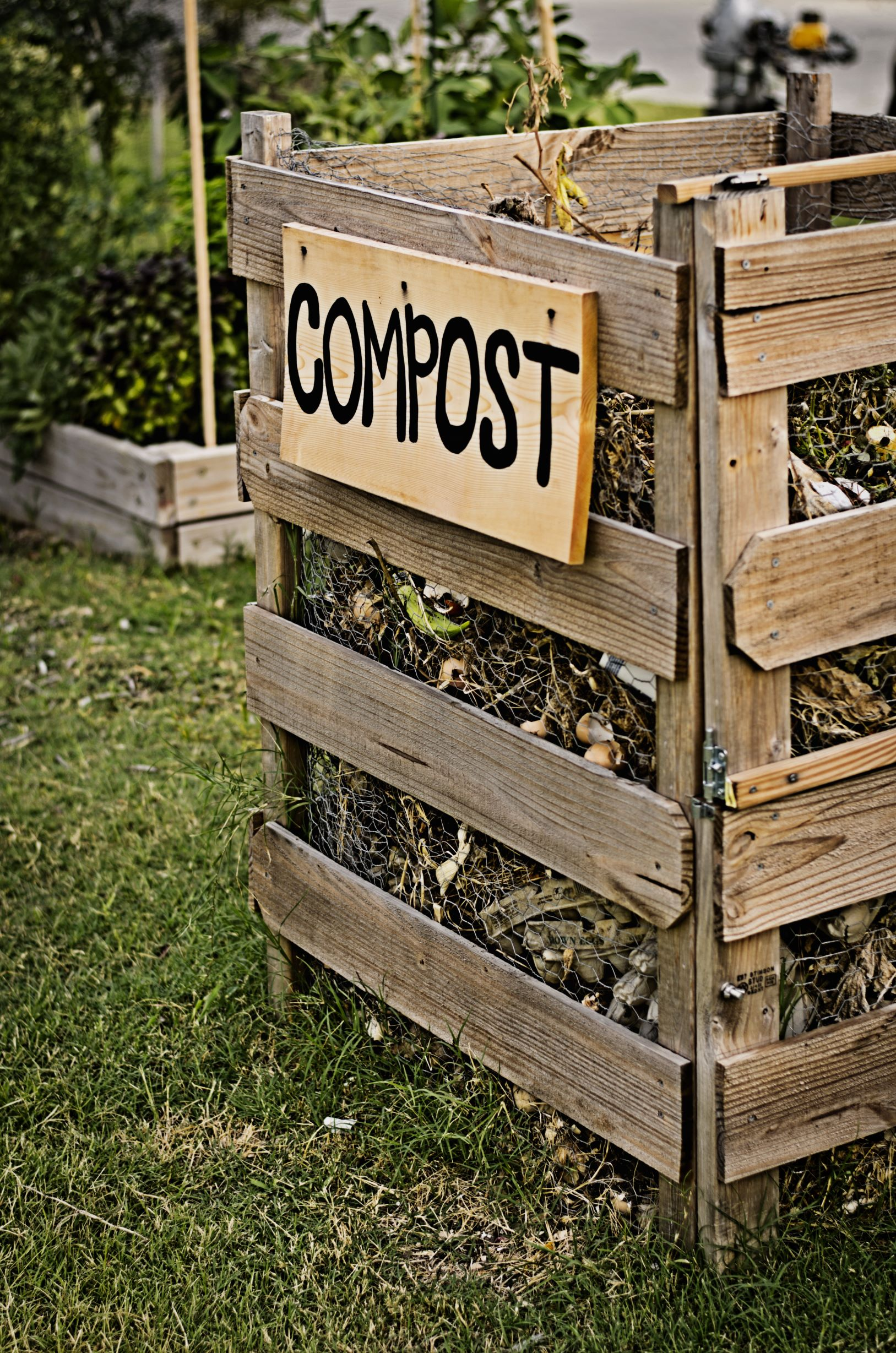 Image showing a homemade compost bin