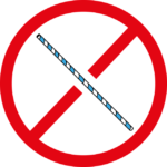 image of a straw as part of a prohibited circle