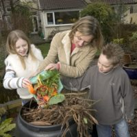 Image of family composting