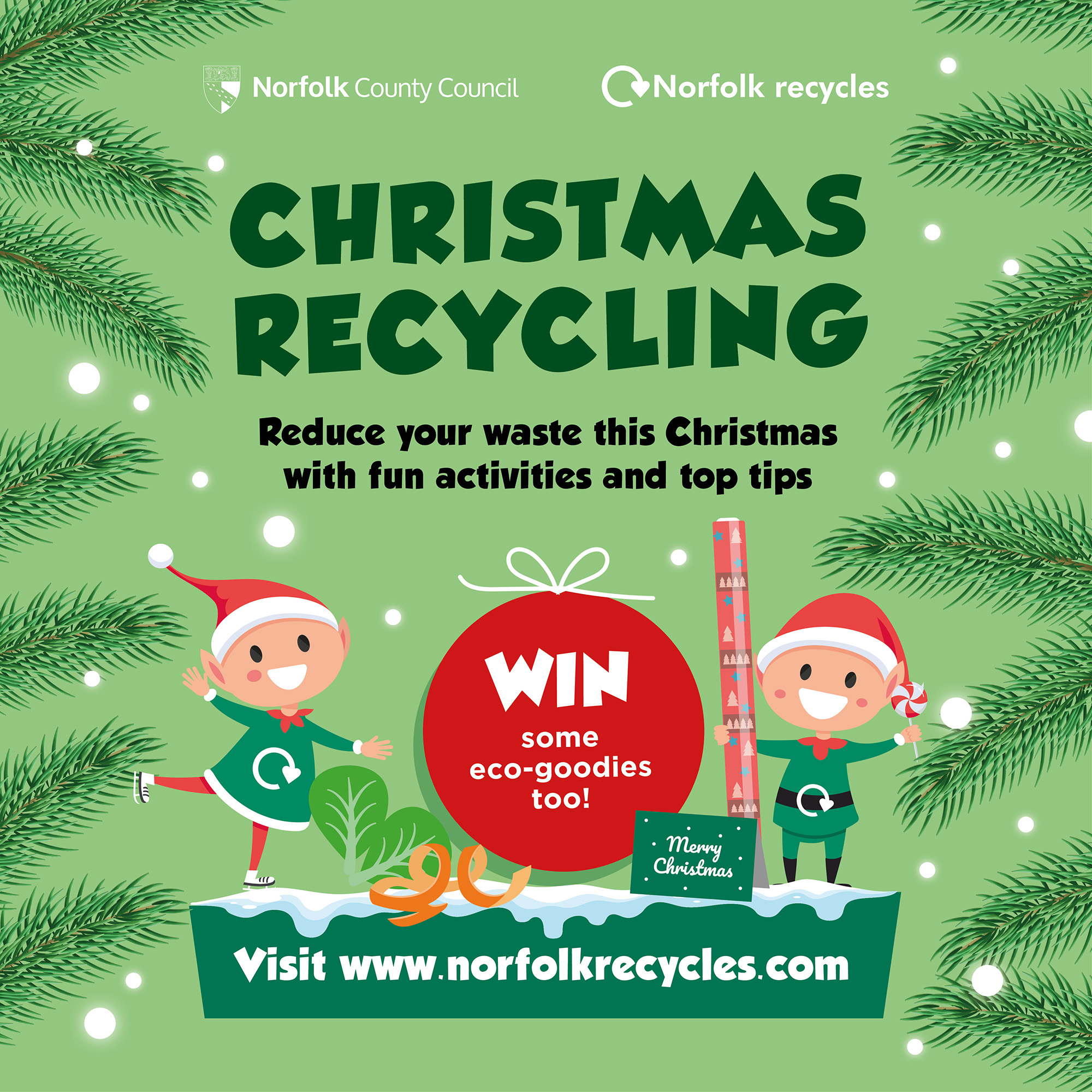 Christmas recycling competition